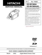 Buy Hitachi DZMV380E_SM_7304E Manual by download Mauritron #186067
