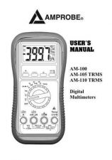 Buy Amprobe AM120TRMS User Instructions Operating Guide by download Mauritron #1942