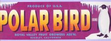 Buy CA Reedley Fruit Crate Label Polar Bear Brand Royal Valley Fruit Growers A~21