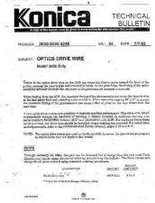 Buy Konica 44 OPTICS DRIVE WIRE Service Schematics by download #136188