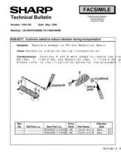 Buy Sharp FAX155 Technical Bulletin by download #138904