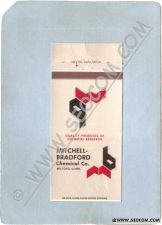 Buy CT Milford Matchcover Mitchell-Bradford Chemical Co w/Chemical Conversions~1443