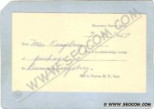 Buy CT Mansfield Depot Postcard Card To Acknowledge receipt Of Package For Ros~1126