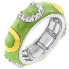 Buy Light Green Enamel Horseshoe Ring (size: 09)