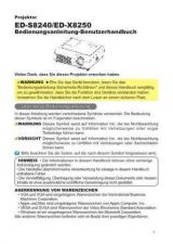 Buy Toshiba ED-X3400 IT Manual by download #172025