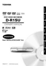 Buy Toshiba D-R4 IM E Manual by download #171991