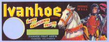 Buy CA Ivanhoe Fruit Crate Label Ivanhoe Fancy California Fruits Ivanhoe Fruit~9
