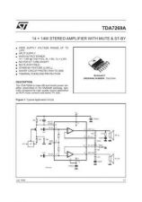 Buy MODEL TDA7269A Service Information by download #124774