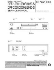 Buy KENWOOD DPF-1030 1030E 2030 2030E 2030S Service Schematics by download #131613