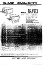 Buy Sharp SF2116-2118 SM DE(1) Service Manual by download #134371