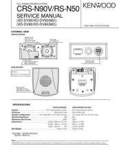 Buy KENWOOD CRS-N90V RS-N50 Service Data by download #132698