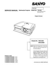 Buy Sanyo Service Manual For PLV-Z3 Manual by download #176019