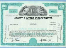 Buy DE na Stock Certificate Company: Liggett & Meyers Incorporated ~48