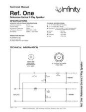 Buy INFINITY RS ONE TS Service Manual by download #151433