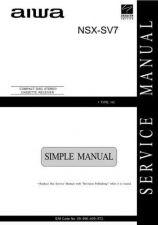 Buy AIWA NSX-SV7 C Service Schematics by download #130122