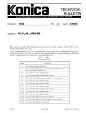 Buy Konica 02 MANUAL UPDATE Service Schematics by download #135811