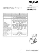 Buy Sanyo Service Manual For HEC-904 Manual by download #175905