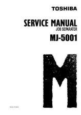 Buy Toshiba MJ 5001 SERV Service Manual by download #139323