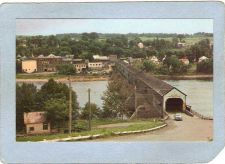 Buy CAN Hartland Covered Bridge Postcard Longest Covered Bridge In The World O~21