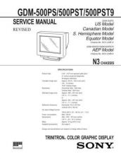 Buy SONY GDM-500PST9 Service Manual by download #166877