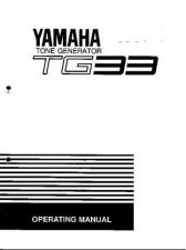 Buy Yamaha TG33E 1 Operating Guide by download Mauritron #205409