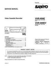 Buy Sanyo VHR-899E Manual by download #177463