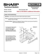 Buy Sharp FAX202 Technical Bulletin by download #138935