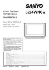 Buy Sanyo CE24WN6-B-00 SM Manual by download #173003