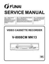 Buy Funai V-8008CM MK13 (U27 HE200PD) SERVICE MANUAL Manual by download #163038
