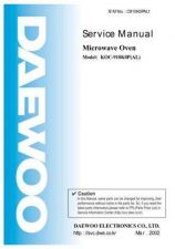 Buy Daewoo Model KOC-1B1K0S,KOC-1B3K0S,KOC-1B1K0S01,KOC-1B3K0S01 Manual by download