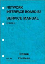 Buy CANON Net BoardE3 SM Service Manual by download #137727