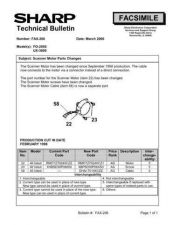 Buy Sharp FAX206 Technical Bulletin by download #138939