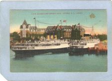 Buy CAN Victoria Postcard C P R Steamer's & Empress Hotel Ships At Dock can_bo~212