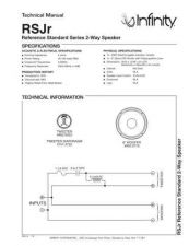 Buy INFINITY RS JR TS Service Manual by download #151432