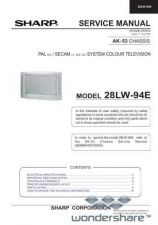 Buy Sharp 28LW94E SM GB(1) Manual.pdf_page_1 by download #178159