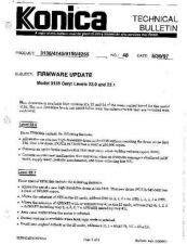 Buy Konica 48 FIRMWARE UPDATE MODEL 31 Service Schematics by download #136201