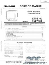 Buy Sharp 27NS300-CN27S30 SM GB Manual.pdf_page_1 by download #178030