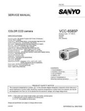 Buy Sanyo Service Manual For VCC-6585P Manual by download #176101