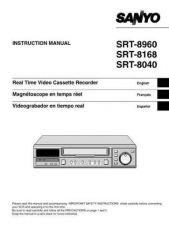 Buy Sanyo SRT-8960P Manual by download #177222