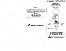 Buy Amprobe ACD-15_SP User Instructions Operating Guide by download Mauritron #1941