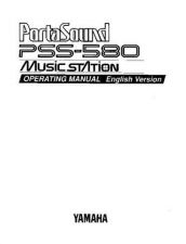 Buy Yamaha PSS580E Operating Guide by download Mauritron #205096