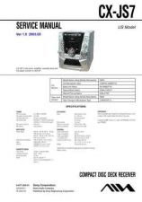 Buy AIWA CX-JS7 TECHNICAL INFO by download #125255