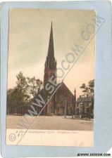 Buy CT Middletown Postcard South Congregational Church Street Scene Intersecti~1354