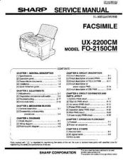 Buy Sharp UX2200SM Service Manual by download #139200
