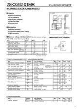 Buy Semiconductor Data 2SK3262 by download Mauritron #195243