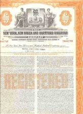 Buy CT New Haven Stock Certificate Company: New York, New Haven and Hartford R~123