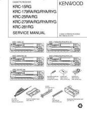 Buy KENWOOD KRC-13RG 178RA RG RYA RYG 23RA 23RG 278RA RG RYA RYG 280RG Technical Inf