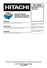 Buy HITACHI No 0508E Service Data by download #151008