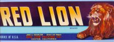 Buy CA Exeter Fruit Crate Label -Red Lion Brand John C. Kazanjian Grower and S~29