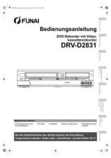 Buy Funai DRV-D2831 E9709ED GE 0722 BR1 Owners User Guide Operating by download #162